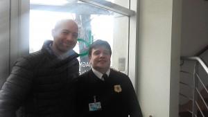 En Diagnostico Bombicino con el vigilador Eduardo Prato