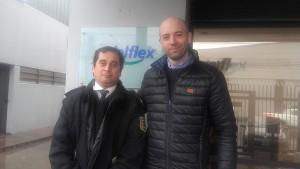 En Edelflex con el vigilador Adrian Quinteros.