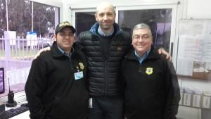En Granja del Sol con los Vigiladores Mariano Basualto y Sergio Fajardo Castillo